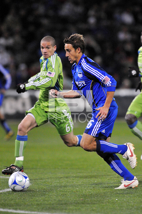 Josh Wolff...Kansas City Wizards were defeated 3-2 by Seattle Sounders at Community America Ballpark, Kansas City, Kansas.