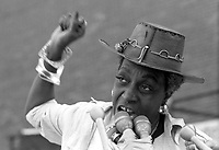 Flo Kennedy at Women's Suffrage Day Celebration Rally at Boston City Hall Plaza Boston Massachusetts 8.26.76