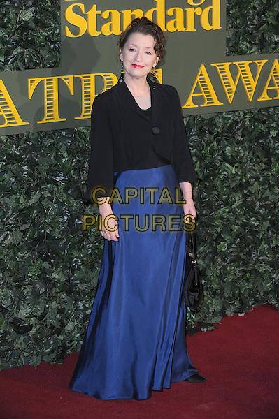 LONDON, ENGLAND - NOVEMBER 13: Lesley Manville attends The London Evening Standard Theatre Awards at The Old Vic Theatre on November 13, 2016 in London, England.<br /> CAP/BEL<br /> &copy;BEL/Capital Pictures