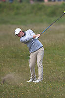 Gareth Lappin (Belvoir Park) on the 2nd during Round 4 of the East of Ireland Amateur Open Championship sponsored by City North Hotel at Co. Louth Golf club in Baltray on Monday 6th June 2016.<br /> Photo by: Golffile   Thos Caffrey