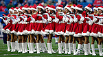 24 December 2006: Buffalo Bills cheerleaders - the Buffalo Jills - perform in Christmas attire prior to a game against the Tennessee Titans at Ralph Wilson Stadium in Orchard Park, New York. The Titans edged out the Bills 30-29.&amp;#xA; &amp;#xA;Mandatory Photo Credit: Ed Wolfstein Photo<br />