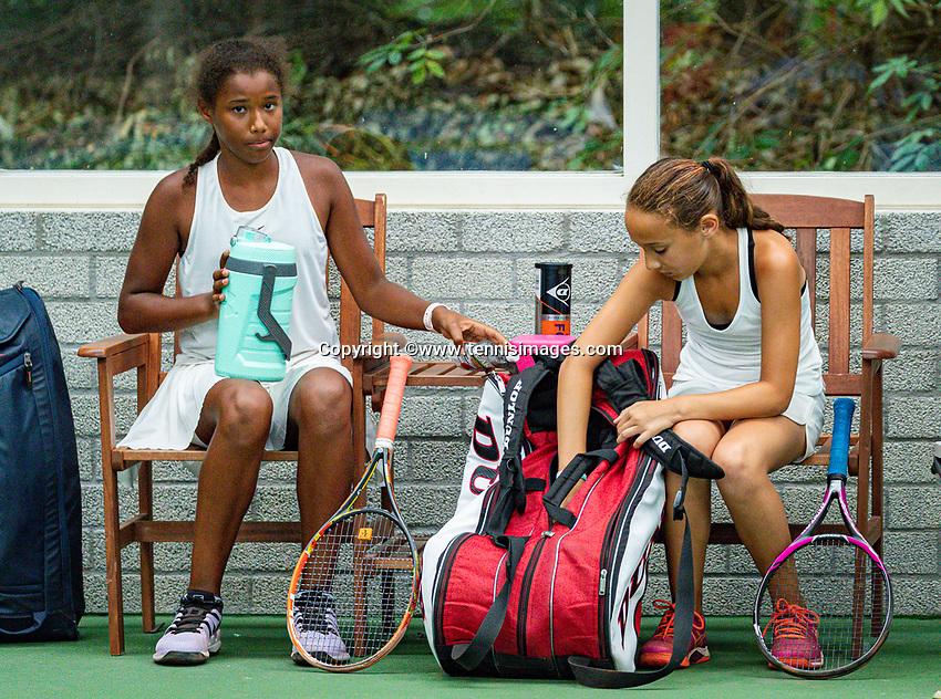 Hilversum, Netherlands, Juli 31, 2019, Tulip Tennis center, National Junior Tennis Championships 12 and 14 years, NJK, Girls Doubles:<br /> Photo: Tennisimages/Henk Koster