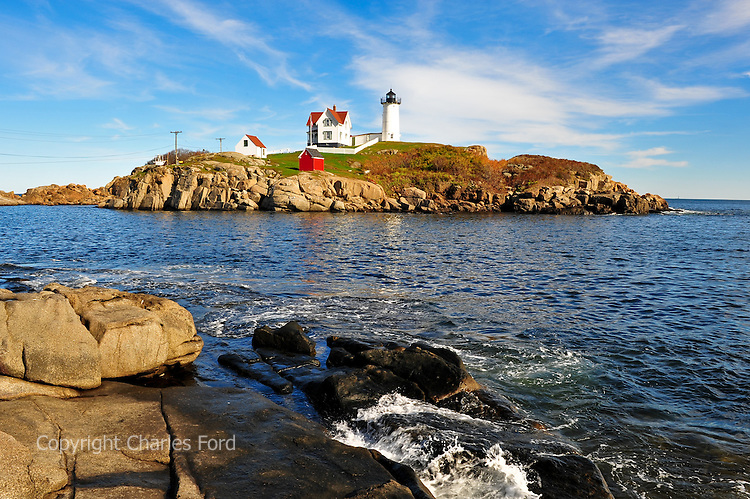 Nubble lighthouse at Cape Neddick, Maine.