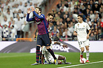 Real Madrid CF's Vinicius Junior, Sergio Reguilon  and FC Barcelona's Gerard Pique and Ivan Rakitic during La Liga match. March 02,2019. (ALTERPHOTOS/Alconada)