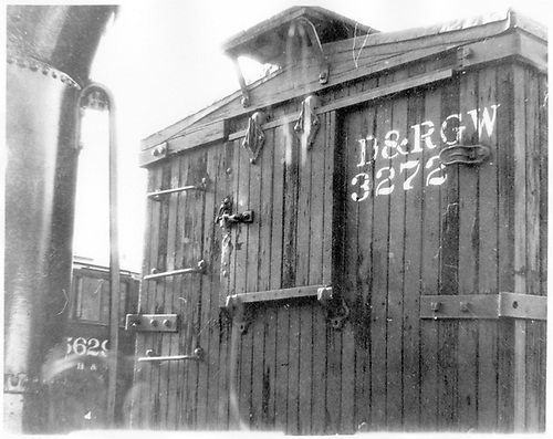 &quot;A&quot; end upper detail view of box car #3272.<br /> D&amp;RGW