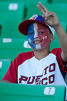 9 March 2009: Fan of Puerto Rico team is seen during the 2009 World Baseball Classic Pool D game 4 at Hiram Bithorn Stadium in San Juan, Puerto Rico. Puerto Rico wins 3-1 over Netherlands