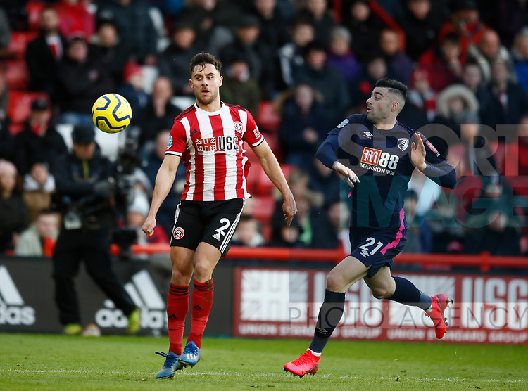 George Baldock of Sheffield Utd during the Premier League match at Bramall Lane, Sheffield. Picture date: 9th February 2020. Picture credit should read: Simon Bellis/Sportimage