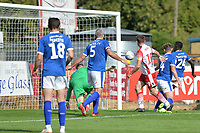Danny Newton of Stevenage goes close during Stevenage vs Tranmere Rovers, Sky Bet EFL League 2 Football at the Lamex Stadium on 4th August 2018