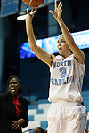 05 December 2012: North Carolina's Megan Buckland. The University of North Carolina Tar Heels played the Radford University Highlanders at Carmichael Arena in Chapel Hill, North Carolina in an NCAA Division I Women's Basketball game. UNC won the game 64-44.