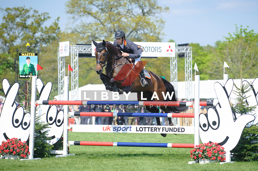 Christopher Burton (AUS) rides Graf Liberty during the Show Jumping and Final day at the 2017 Mitsubishi Motors Badminton Horse Trials.  Sunday 7 May. Copyright Photo: Stephen Bartholomew  / Libby Law Photography
