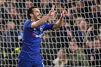 Pedro celebrates scoring Chelsea's opening goal during Chelsea vs Dynamo Kiev, UEFA Europa League Football at Stamford Bridge on 7th March 2019