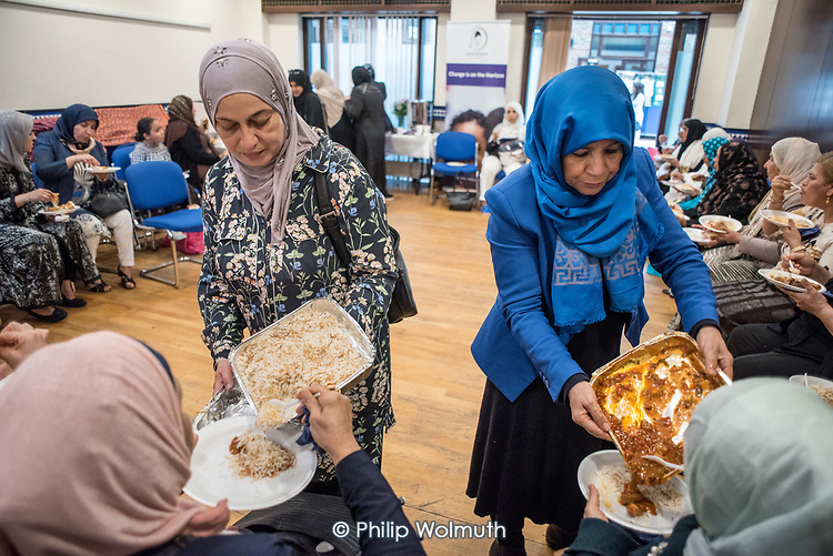 Hear Women Gargar Foundation end of summer Cook and Talk programme presentation of certificates, Al Manaar Muslim Cultural Heritage Centre, North Kensington, London.