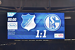 01.12.2018, wirsol Rhein-Neckar-Arena, Sinsheim, GER, 1 FBL, TSG 1899 Hoffenheim vs FC Schalke 04, <br /> <br /> DFL REGULATIONS PROHIBIT ANY USE OF PHOTOGRAPHS AS IMAGE SEQUENCES AND/OR QUASI-VIDEO.<br /> <br /> im Bild: Endstand / Endergebnis / Anzeigetafel / Feature<br /> <br /> Foto &copy; nordphoto / Fabisch