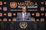 Opening Plenary Meeting of the Nelson Mandela Peace Summit<br /> <br /> His Excellency Mokgweetsi Eric Keabetswe MASISIPresident of the Republic of Botswana