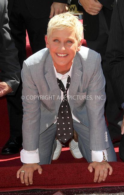 WWW.ACEPIXS.COM....US SALES ONLY....September 4, 2012, Los Angeles, CA.....Ellen DeGeneres receives a star onThe Hollywood Walk of Fame on September 4, 2012 in Los Angeles, CA.........By Line: Famous/ACE Pictures....ACE Pictures, Inc..Tel: 646 769 0430..Email: info@acepixs.com