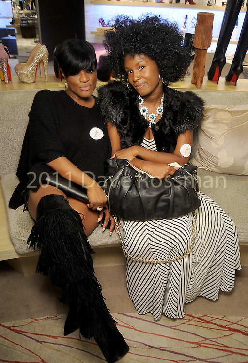 Rosette Howard and Keyira Ivory at a Dress for Dinner event featuring shoe designer Edgardo Osorio at Saks Fifth Avenue Wednesday Oct. 28, 2015.(Dave Rossman photo)