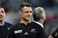 Dan Carter of New Zealand looks on after the match. Rugby World Cup Pool C match between New Zealand and Tonga on October 9, 2015 at St James' Park in Newcastle, England. Photo by: Patrick Khachfe / Onside Images