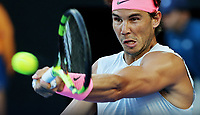 MELBOURNE,AUSTRALIA,23.JAN.18 - TENNIS - ATP World Tour, Grand Slam, Australian Open. Image shows Rafael Nadal (ESP). Photo: GEPA pictures/ Matthias Hauer / Copyright : explorer-media