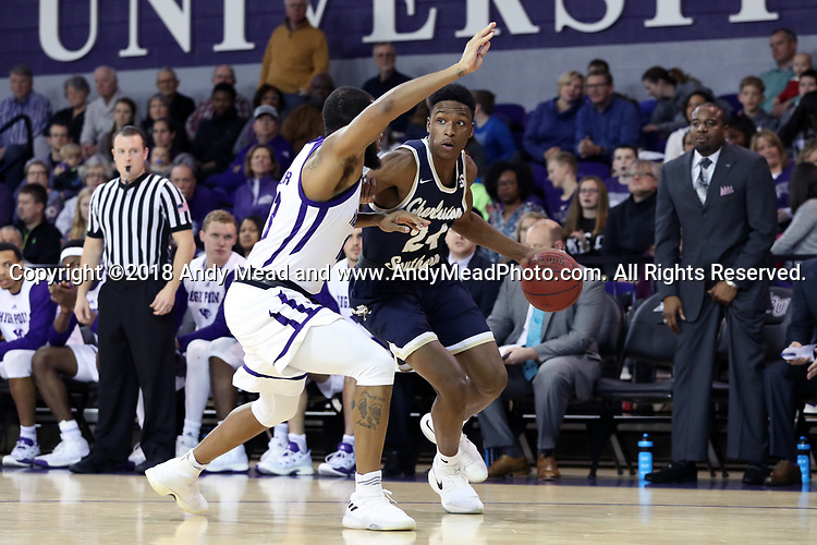 HIGH POINT, NC - JANUARY 06: Charleston Southern's Phlandrous Fleming, Jr. (24). The High Point University of Panthers hosted the Charleston Southern University Buccaneers on January 6, 2018 at Millis Athletic Convocation Center in High Point, NC in a Division I men's college basketball game. HPU won the game 80-59.