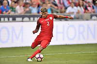 Commerce City, CO - Thursday June 08, 2017: DeAndre Yedlin during their 2018 FIFA World Cup Qualifying Final Round match versus Trinidad & Tobago at Dick's Sporting Goods Park.