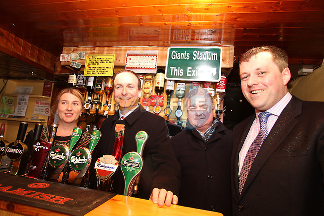 Micheál Martin and Thomas Byrne canvassing in Kells meeting Jean Campbell and Peter Caffrey in McGees Pub...(Photo credit should read Jenny Matthews www.newsfile.ie)....This Picture has been sent you under the conditions enclosed by:.Newsfile Ltd..The Studio,.Millmount Abbey,.Drogheda,.Co Meath..Ireland..Tel: +353(0)41-9871240.Fax: +353(0)41-9871260.GSM: +353(0)86-2500958.email: pictures@newsfile.ie.www.newsfile.ie.