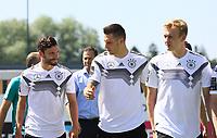 Jonas Hector (Deutschland Germany), Niklas Süle (Deutschland Germany), Julian Brandt (Deutschland Germany) - 05.06.2018: Training der Deutschen Nationalmannschaft zur WM-Vorbereitung in der Sportzone Rungg in Eppan/Südtirol