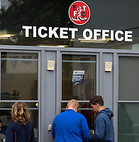 Fans buying tickets <br /> <br /> Photographer Andrew Kearns/CameraSport<br /> <br /> The Carabao Cup First Round - Fleetwood Town v Carlisle United Kingdom - Tuesday 8th August 2017 - Highbury Stadium - Fleetwood<br />  <br /> World Copyright &copy; 2017 CameraSport. All rights reserved. 43 Linden Ave. Countesthorpe. Leicester. England. LE8 5PG - Tel: +44 (0) 116 277 4147 - admin@camerasport.com - www.camerasport.com