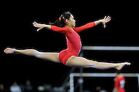 02/20/09 - Photo by John Cheng for USA Gymnastics.  Japanese gymnast Kyoko Oshima performs on floor exercise in a meet against US before the Tyson American Cup at Sears Centre Arena in Chicago.