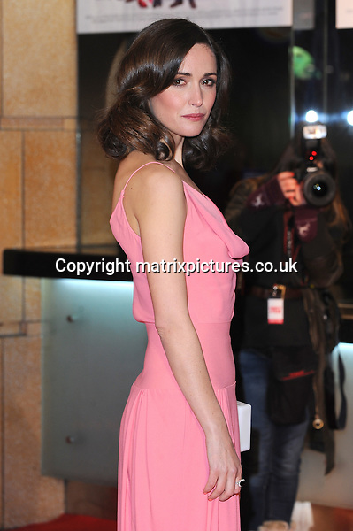 "NON EXCLUSIVE PICTURE: PAUL TREADWAY / MATRIXPICTURES.CO.UK.PLEASE CREDIT ALL USES..WORLD RIGHTS..Australian actress Rose Byrne (wearing salmon pink Balenciaga gown) attending the UK film premiere of ""I Give It A Year"", at London's Odeon West End...JANUARY 24th 2013..REF: PTY 13491"