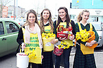 Lewina Callow, Naoise Dunne, Eleanor Healy and Jenny Power selling Dafs on Daffoldil Day...Photo NEWSFILE/Jenny Matthews.(Photo credit should read Jenny Matthews/NEWSFILE)....This Picture has been sent you under the condtions enclosed by:.Newsfile Ltd..The Studio,.Millmount Abbey,.Drogheda,.Co Meath..Ireland..Tel: +353(0)41-9871240.Fax: +353(0)41-9871260.GSM: +353(0)86-2500958.email: pictures@newsfile.ie.www.newsfile.ie.FTP: 193.120.102.198.