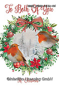 John, CHRISTMAS LANDSCAPES, WEIHNACHTEN WINTERLANDSCHAFTEN, NAVIDAD PAISAJES DE INVIERNO,red robin, wreath,  paintings+++++,GBHSFBHX-003A-06,#xl#