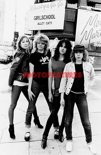 Girlschool 1982.© Chris Walter.