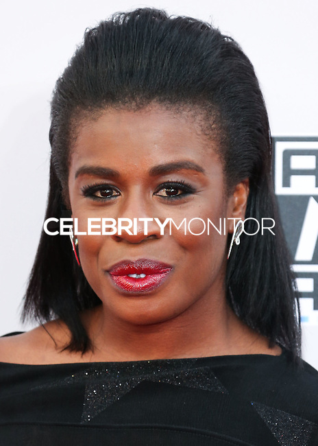 LOS ANGELES, CA, USA - NOVEMBER 23: Uzo Aduba arrives at the 2014 American Music Awards held at Nokia Theatre L.A. Live on November 23, 2014 in Los Angeles, California, United States. (Photo by Xavier Collin/Celebrity Monitor)
