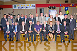 The Glenflesk 1970 Junior championship winning team that was honoured in the Killarney Heights hotel on Friday night front row l-r: Brendan Walsh, Denis Healy, Ned Spillane, Jimmy Hegarty, Stevie Shine, Sean O'Donoghue, Noreen Kennedy (accepting for her brother Bernard Dennehy), Jer O'Donoghue and Liam Murphy. Back row: Ger Galvin, Derry Kelly, Cieran O'Donoghue for his father Noel, Tim Kelly, Donie O'Donovan, Cieran O'Donoghue for his father Kevin, Michael O'Donoghue, Paddy, John, JJ O'Donoghue, Jerry Crowley,Alan Clerkon for his father Peter, Fr Micheal O'Dohertaigh, John Culloty Chairman..