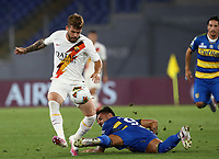 Roma's Carles Perez, left, is challenged by Parma's Giuseppe Pezzella during the Italian Serie A football match between Roma and Parma at Rome's Olympic stadium, July 8, 2020.<br /> UPDATE IMAGES PRESS/Isabella Bonotto