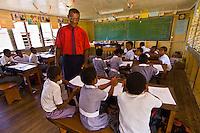 Classroom, Yanuya Village, Yanuya Island, Fiji Islands
