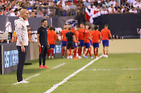 East Rutherford (EUA), 26/07/2019 - Amistoso Internacional / Real Madrid x Atlético de Madrid -   Zinédine Zidane treinador do Real Madrid durante partida contra o Atlético de Madrid  durante partida pela International Champions Cup no MetLife Stadium em East Rutherford nos Estados Unidos na noite desta sexta-feira, 26. (Foto: William Volcov/Brazil Photo Press/Agencia O Globo) Esportes