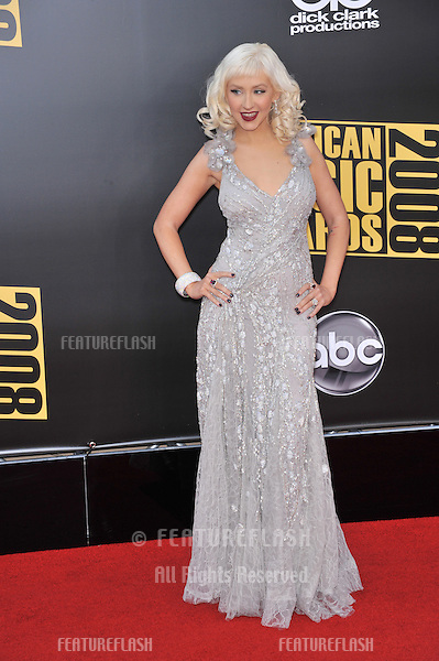 Christina Aguilera at the 2008 American Music Awards at the Nokia Live! Theatre, Los Angeles..November 23, 2008 Los Angeles, CA.Picture: Paul Smith / Featureflash
