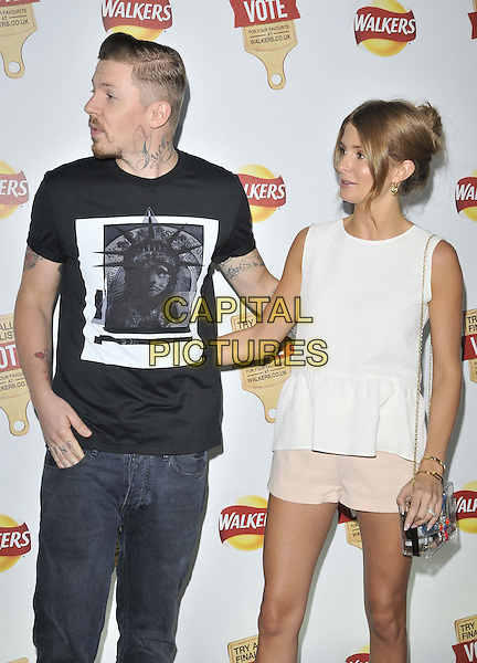 LONDON, ENGLAND - JULY 28: Stephen Paul Manderson aka Professor Green &amp; Millie Mackintossh attend the Walkers Crisps Do Us A Flavour campaign party, Paramount, Centre Point, New Oxford St., on Monday July 28, 2014 in London, England, UK. <br /> CAP/CAN<br /> &copy;Can Nguyen/Capital Pictures