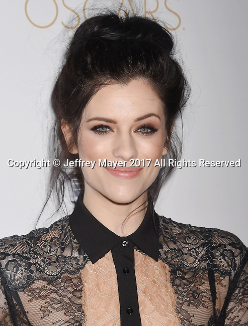 LOS ANGELES, CA - FEBRUARY 23: Actress Jessica De Gouw attends Cadillac's 89th annual Academy Awards celebration at Chateau Marmont on February 23, 2017 in Los Angeles, California.