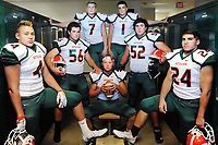 Kettle Run's Carter Frye (4), Ryan Schwind (56), Nick Fallows (7), Casen Chumley (8), Tony Rocca (1), Hunter Khalatbari (52), and Anders Isaksen (24) will be the nucleus of a improved Cougars team.<br />