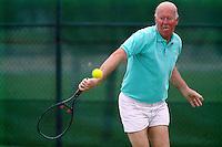 FREMONT, CA - Al Mangin plays tennis in 1989 in Fremont, California. (Photo by Brad Mangin)