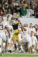 January 7, 2013: Notre Dame tight end Tyler Eifert (80) makes a catch that was ruled out of bounds during 1st half of the Discover BCS National Championship game between the Alabama Crimson Tide and the Notre Dame Fighting Irish at Sun Life Stadium in Miami Gardens, Fl