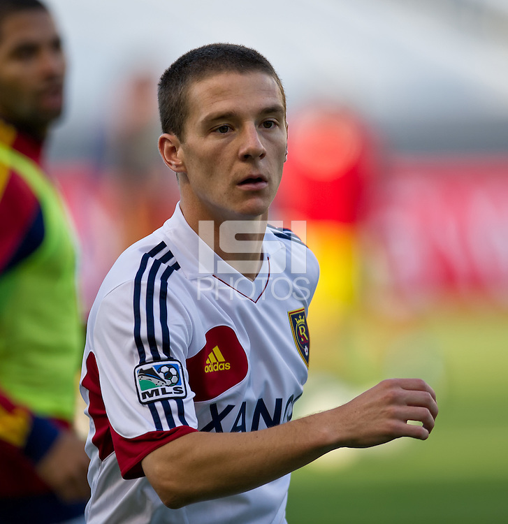 CARSON, CA - June 16, 2012: Real Salt Lake midfielder Will Johnson (8) prior to the Chivas USA vs Real Salt Lake match at the Home Depot Center in Carson, California. Final score Real Salt Lake 3, Chivas USA 0.
