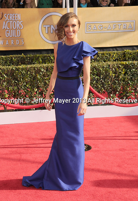 LOS ANGELES, CA - JANUARY 27: Giuliana Rancic arrives at the 19th Annual Screen Actors Guild Awards at the Shrine Auditorium on January 27, 2013 in Los Angeles, California.