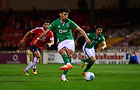 Lincoln City's Lee Angol scores the opening goal from the penalty spot<br /> <br /> Photographer Andrew Vaughan/CameraSport<br /> <br /> The Buildbase FA Trophy Semi-Final First Leg - York City v Lincoln City - Tuesday 14th March 2017 - Bootham Crescent - York<br />  <br /> World Copyright &copy; 2017 CameraSport. All rights reserved. 43 Linden Ave. Countesthorpe. Leicester. England. LE8 5PG - Tel: +44 (0) 116 277 4147 - admin@camerasport.com - www.camerasport.com