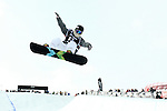 2011 FIS Snowboard World Cup  Championships , halfpipe qualification men's, La Molina. Picture show Huang Shiying CHN FIS SNOWBOARD WORLD CHAMPIONS LA MOLINA