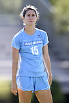 09 September 2012: San Diego's Mariah Hobbs. The University of North Carolina Tar Heels defeated the University of San Diego Toreros 5-0 at Koskinen Stadium in Durham, North Carolina in a 2012 NCAA Division I Women's Soccer game.