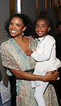 Renee Elise Goldsberry and Brielle Johnson attends the 20th Anniversary Performance of 'The Lion King' on Broadway at The Minskoff Theatre on November 5, 2017 in New York City.