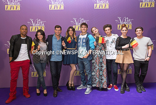 12.03.2015; Brussels, Belgium: MARTINA STOESSEL<br /> aka &ldquo;Violetta&rdquo;, promotes her upcoming concerts &ldquo;Violetta Live 2015&rdquo;.<br /> Martina is Argentine teen actress, dancer, singer, and model, who gained popularity for her debut role as Violetta Castillo on the Disney Channel original series Violetta.<br /> (Left to right) Samuel Nascimento, Alba Rico, Diego Dominguez, Martina Stoessel, Jorge Blanco, Mercedes Lambre, Ruggero Pasquarelli, Candelaria Molfese and Facundo Gambandel<br /> Mandatory Credit Photos: &copy;NEWSPIX INTERNATIONAL<br /> <br /> **ALL FEES PAYABLE TO: &quot;NEWSPIX INTERNATIONAL&quot;**<br /> <br /> PHOTO CREDIT MANDATORY!!: NEWSPIX INTERNATIONAL(Failure to credit will incur a surcharge of 100% of reproduction fees)<br /> <br /> IMMEDIATE CONFIRMATION OF USAGE REQUIRED:<br /> Newspix International, 31 Chinnery Hill, Bishop's Stortford, ENGLAND CM23 3PS<br /> Tel:+441279 324672  ; Fax: +441279656877<br /> Mobile:  0777568 1153<br /> e-mail: info@newspixinternational.co.uk